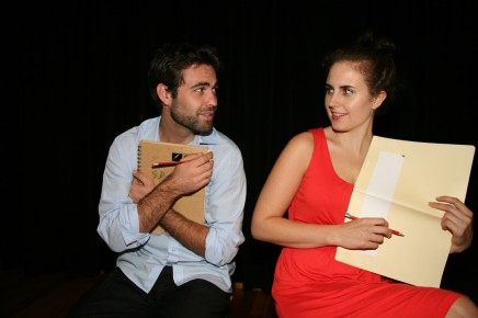 Production image. Factory Space Theatre Company, 2013. Directed by Roz Riley, Star of the Sea Theatre (Manly). Pictured (l-r): Michael Sutherland, Lucy McNabb.